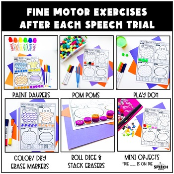 Halloween Speech Therapy Activity: Preschool Language and Articulation