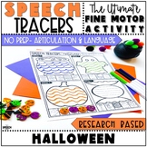 Halloween Speech Therapy Tracers: Articulation and Language Fine Motor Activity