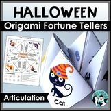 Halloween Speech Therapy - Articulation Fortune Tellers