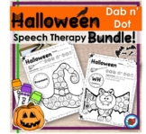 Halloween Speech Therapy BUNDLE- Dab n Dot | Distance Learning
