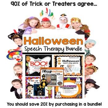 Halloween Speech Therapy Bundle