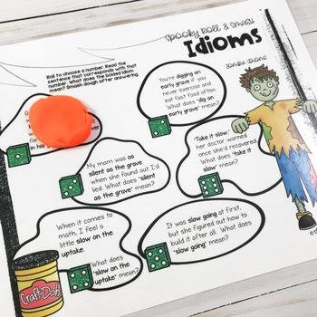 Halloween Speech Therapy Bundle | Main Idea | Idioms
