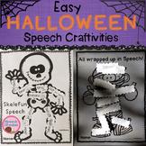 Halloween Speech Therapy Craft Mummy Skeleton
