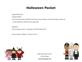 Halloween Speech Therapy Packet