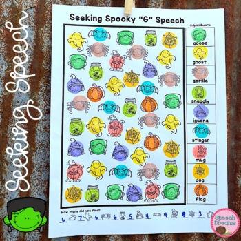 Halloween Speech Therapy Seeking Activity {articulation}