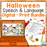 Printable and Digital Halloween Speech Therapy Activities