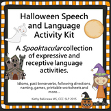 Halloween Speech and Language Activity Kit