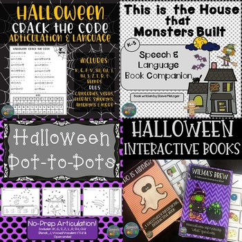 Halloween Speech and Language Bundle