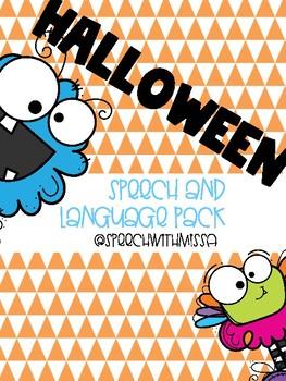 Halloween Speech and Language Pack