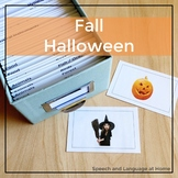 Speech Therapy Halloween Activity for Language (ELL) | Photo Cards
