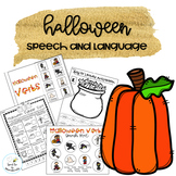 Halloween Speech Therapy--activities and adapted book