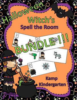 Halloween Spell the Room  BUNDLE