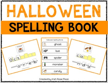 Halloween Spelling Books (Adapted Book)