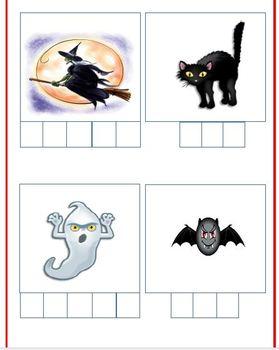 Halloween Spelling Center File Folder Activity