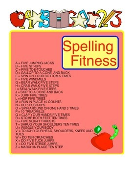 Physical Education - Halloween Spelling Fitness