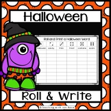 Halloween Literacy Center - Roll it and Write it