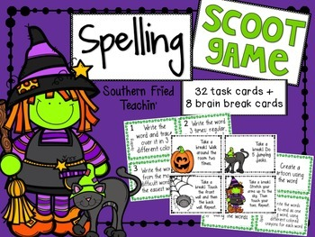 Halloween Spelling Scoot Game/Task Cards
