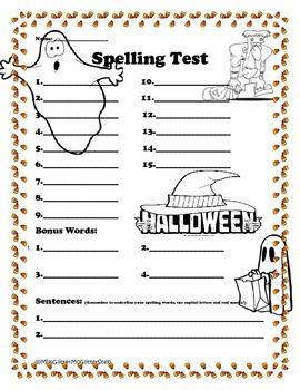 Halloween Spelling Test