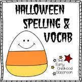 Halloween Spelling & Vocabulary Worksheets (No Prep!)