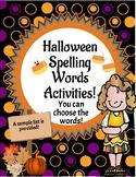 Halloween Spelling Words Activities!