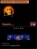 Halloween: Spelling Words--Missing Vowels