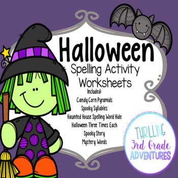 Halloween Spelling Worksheets