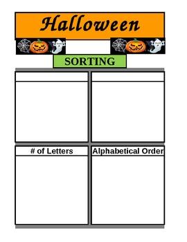 Halloween Spelling and Writing Activities - Common Core Practice
