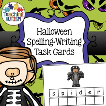 Halloween: Spelling and Handwriting Task Cards