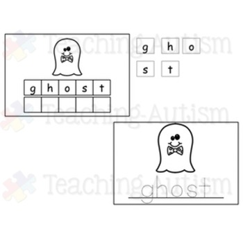 Halloween Spelling and Handwriting Task Cards