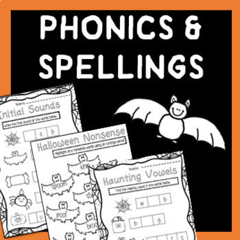 Halloween Spellings & Phonics Worksheets