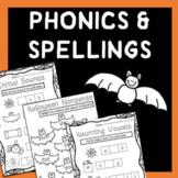 Halloween Spellings & Phonics Worksheets