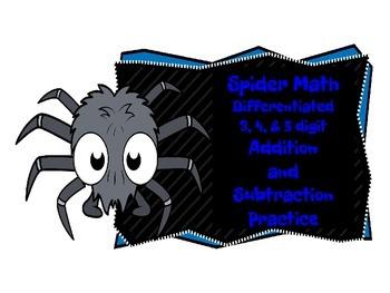 Halloween Spider Addition & Subtraction Center