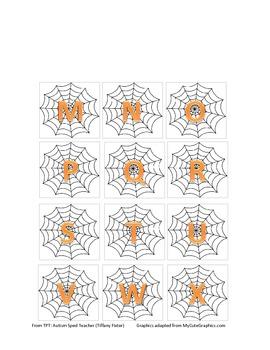 Halloween Spider Alphabet Pack