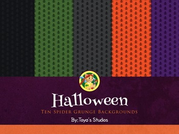 Halloween Spider Backgrounds by Toya's Studios