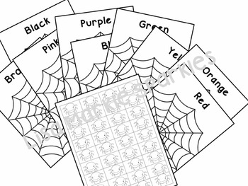 Halloween Spider Color Sorting Activity for Preschool