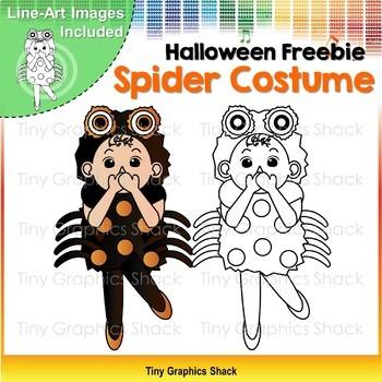 Halloween Spider Costume Clip Art Freebie