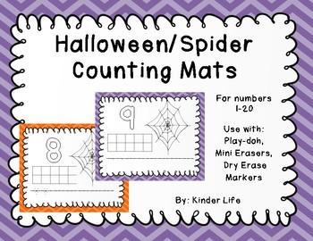 Halloween Math Counting Play-doh Mats