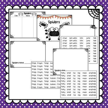 Halloween Spider Craft and Class Book