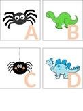 Halloween/Spider & Dinosaur Alphabet Cards