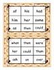 Halloween Spider Dolch First Sight Words Bingo Game