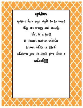 Halloween Spider Handprint Poem