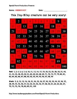 Halloween - Spider - Hundreds Chart!