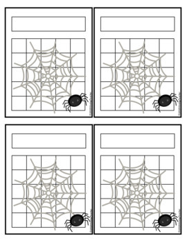 Halloween Spider Incentive Reward Sticker Charts