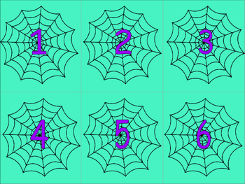 Halloween Spider Number Match