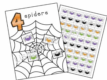 Halloween Spider Number and Counting Activity for Preschool