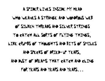 Halloween--Spider Poem by Shel Silverstein