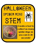 Halloween Spider Ring STEM activity with simple materials