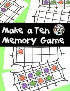 Spider Ten Frame Memory Game