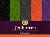 Halloween Spider Web Backgrounds by Toya's Studios