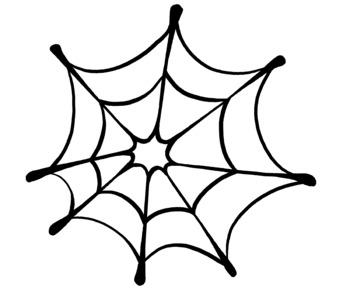 Halloween Spider Web Clip Art